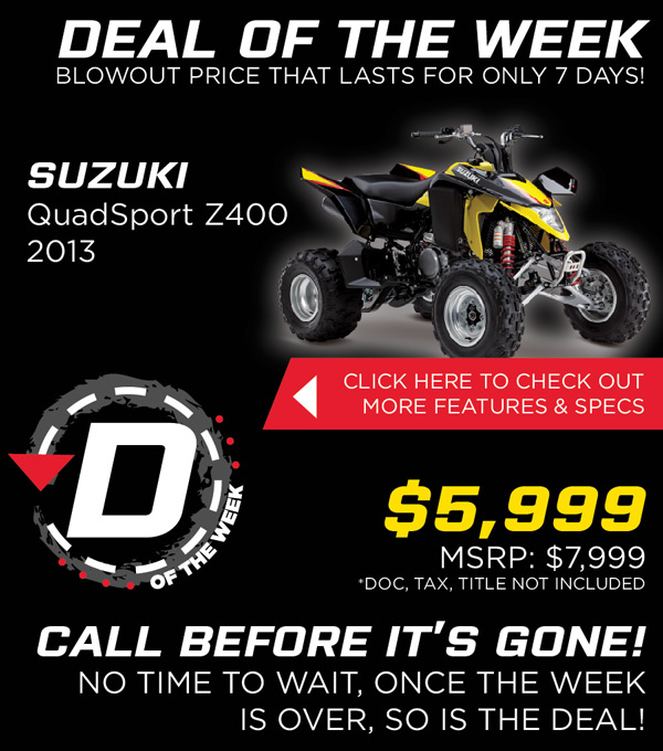Suzuki Atv Dealer Utah